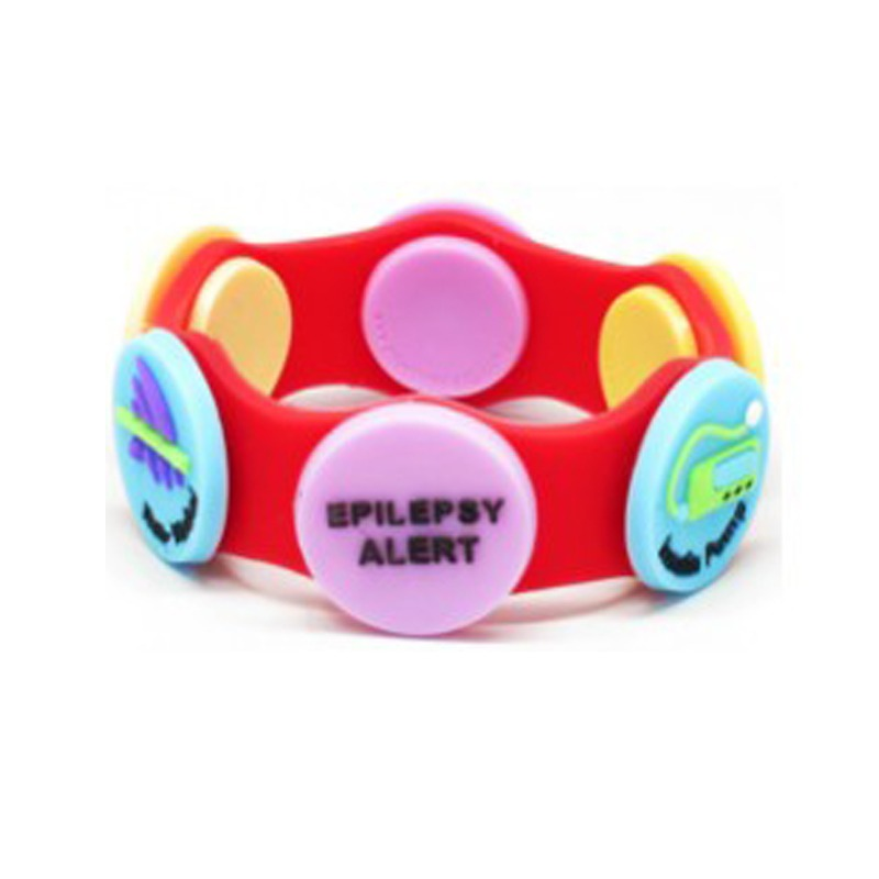 Child S Silicone Wristband With Alert Buttons Red