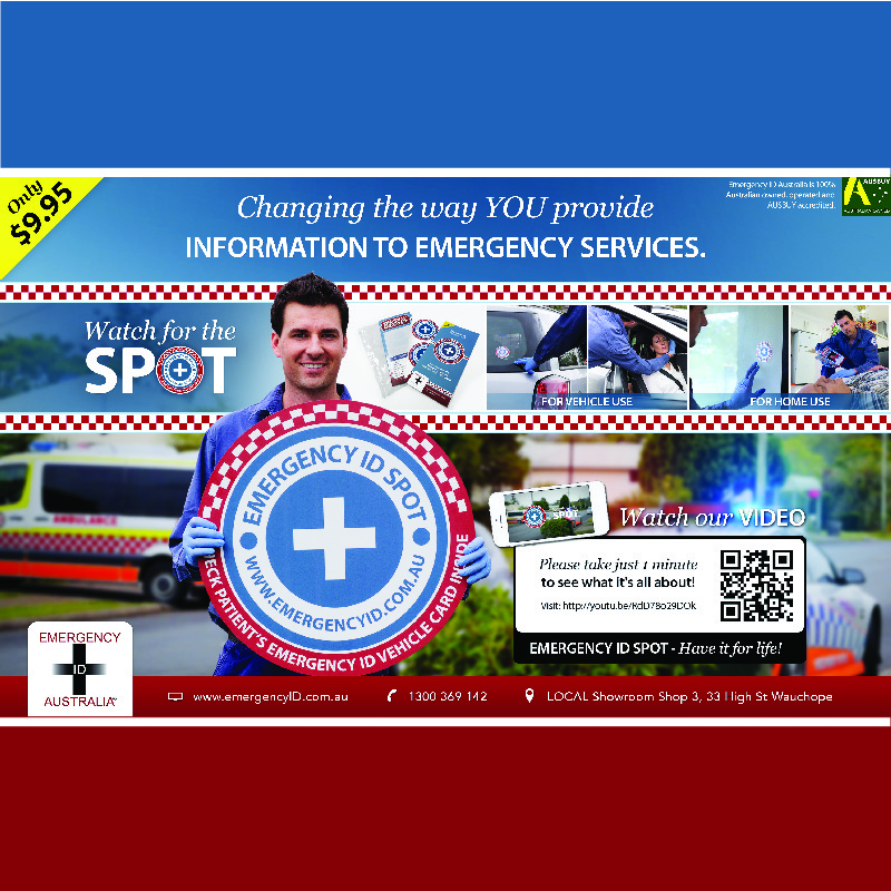Emergency ID Spot Care Information Kit medical alert for your home or car