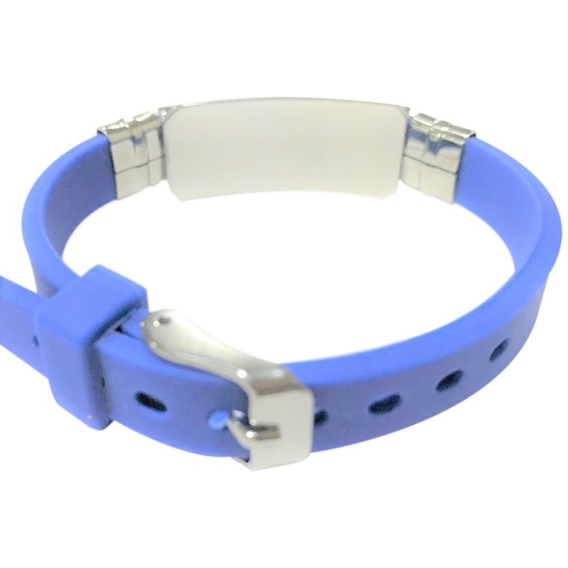 Emergency medical alert ID bracelet