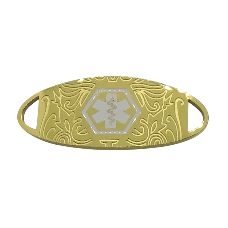Bracelet Medallion #10 – Gold Plated with White