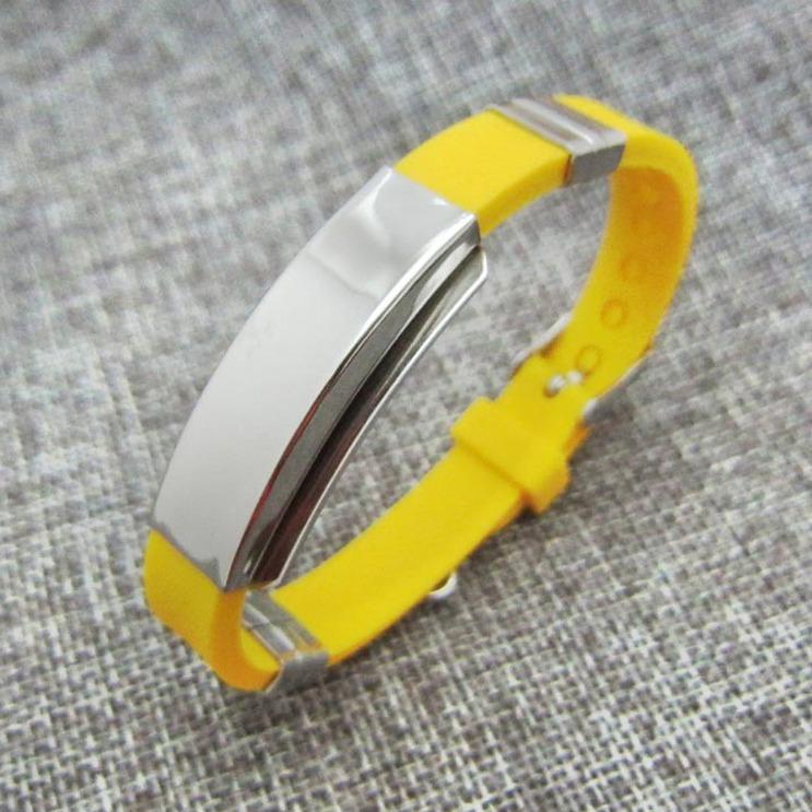 Emergency ID wristband medical alert bracelet