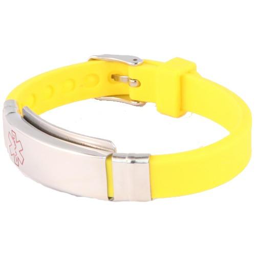 Emergency medical alert ID yellow wristband