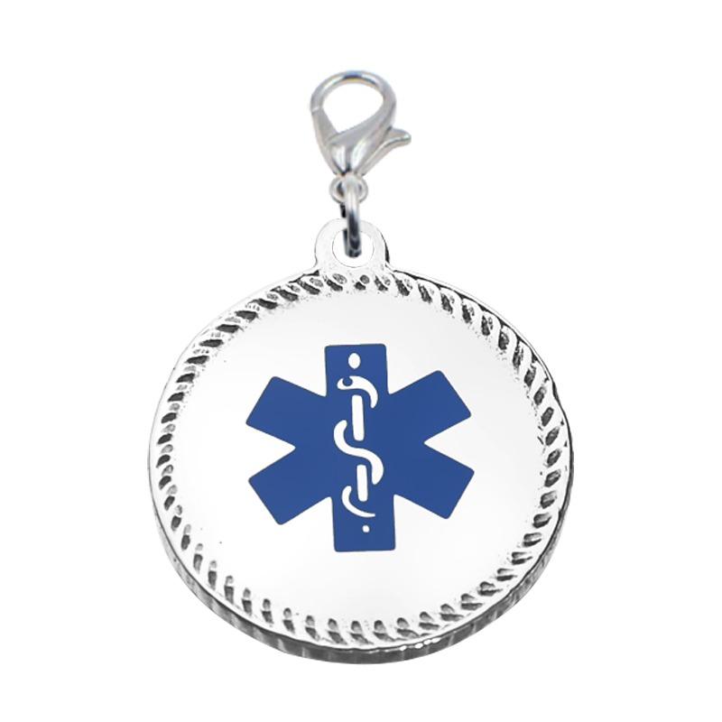 Emergency ID medical bracelet charm