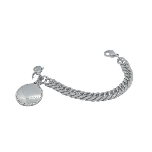 Round Blue Bracelet Charm for medical alert bracelets 3