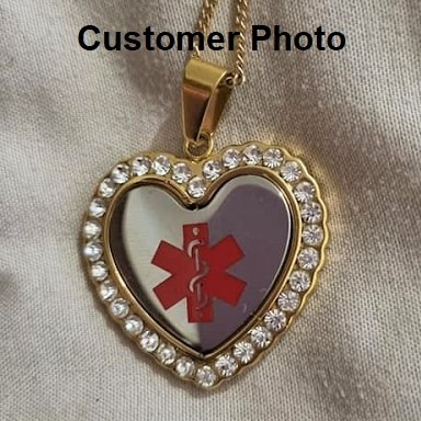 Customers Photo of Emergency ID neclace