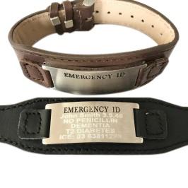 Emergency id australia engraving on medical alert