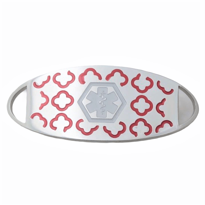 Launceston Style – Red and Silver Stainless Steel Medallion