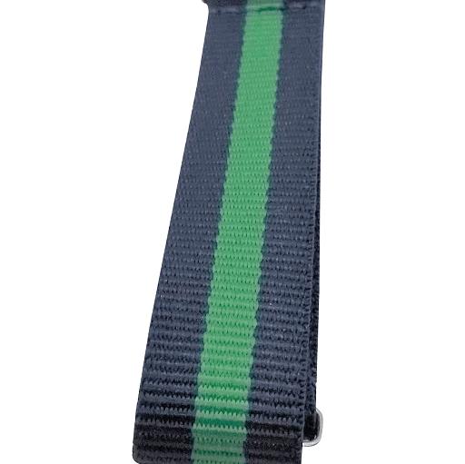 Nylon Watchband Style 7 - Navy & Green