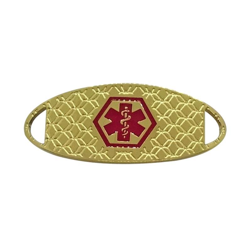Emergency ID Australia medical alert gold bracelet medallion