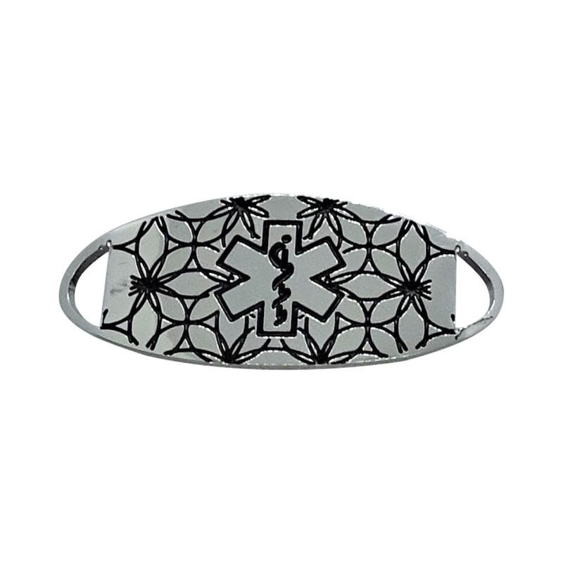 Bracelet Medallion 2 - Stainless Steel & Black