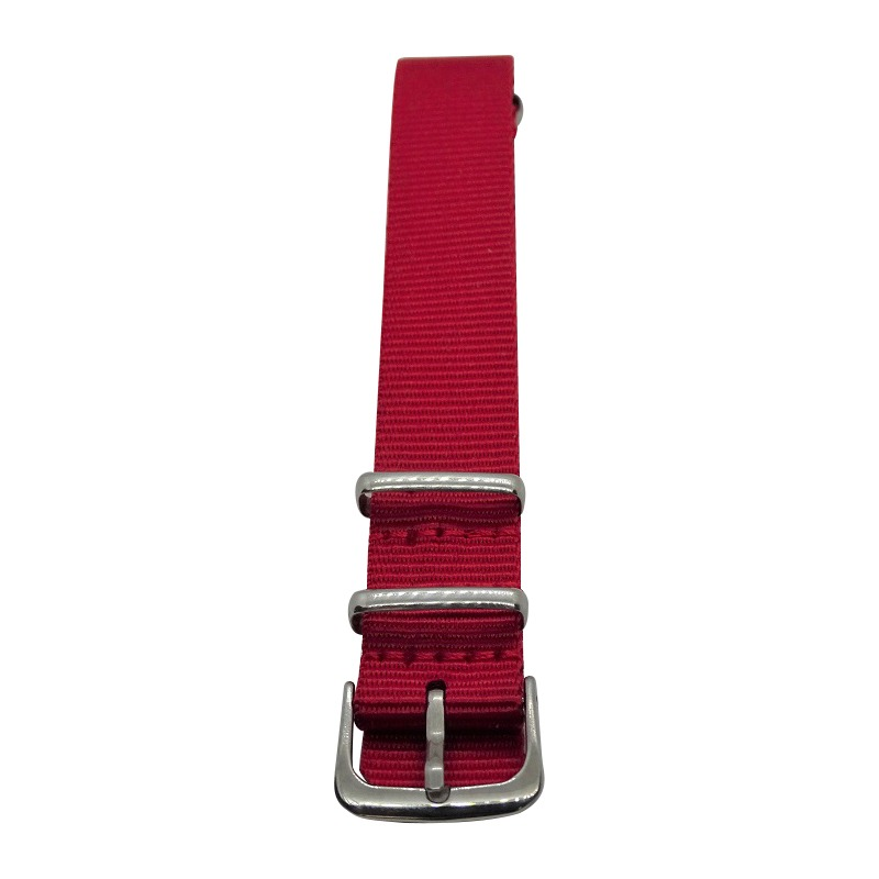 Nylon Watchband Style Wristband 1 - Red