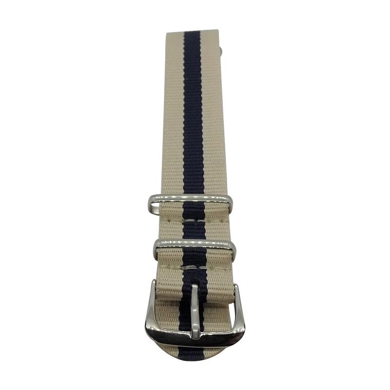 Nylon Watchband Style 4 - Dark Brown & Light Brown