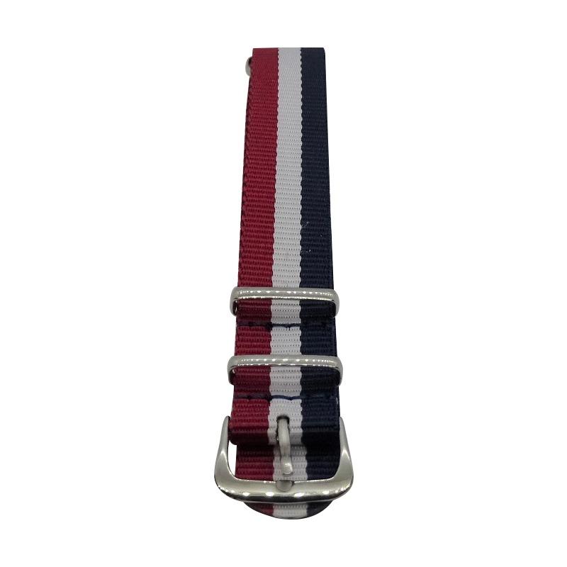 Nylon Watchband Style 5 - Red, White & Navy