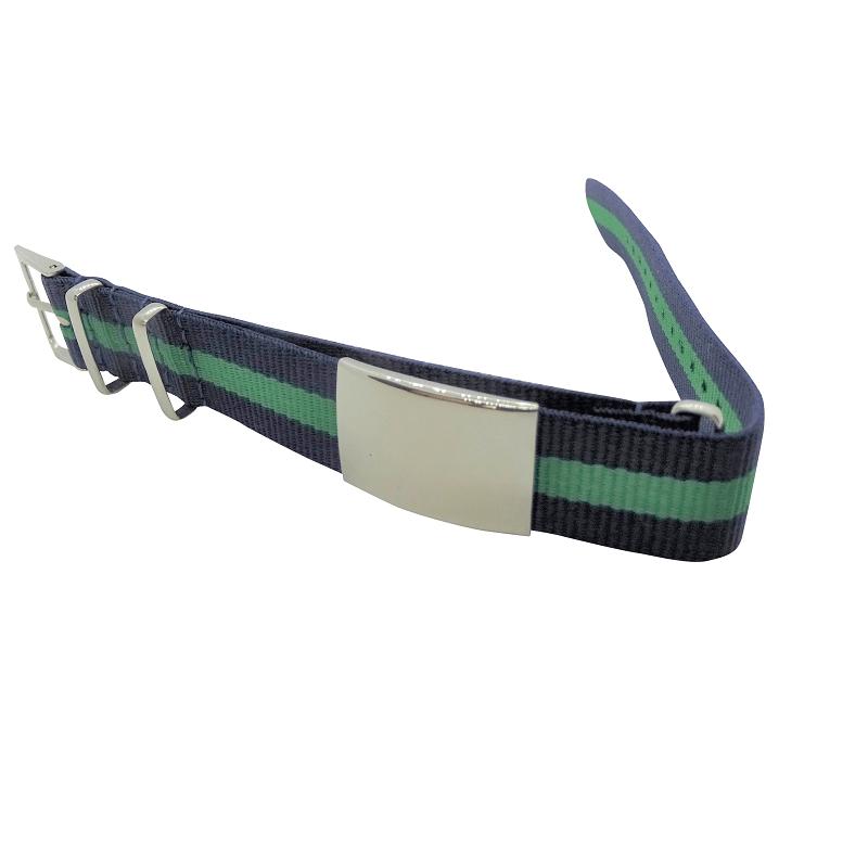Nylon Watchband Style #11 - Navy & Green