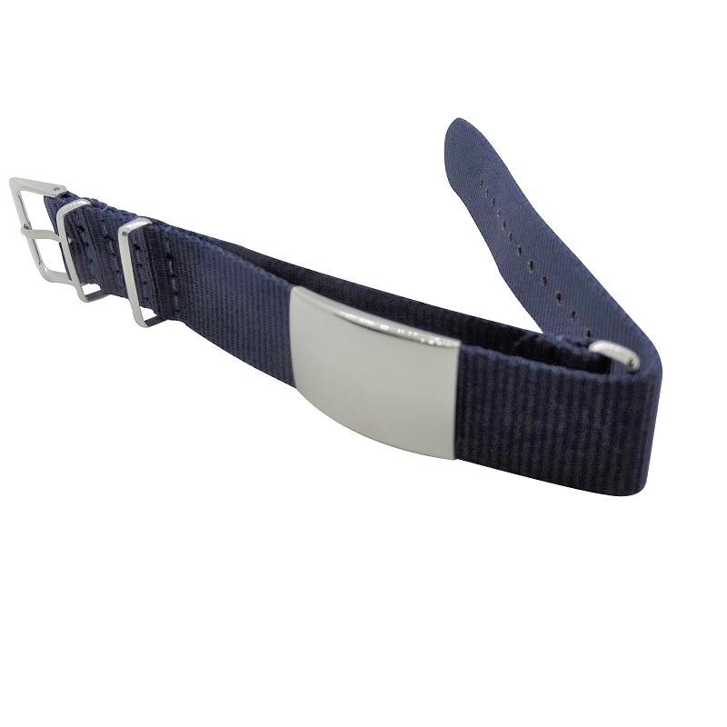 Nylon Watchband Style #10 - Navy Blue