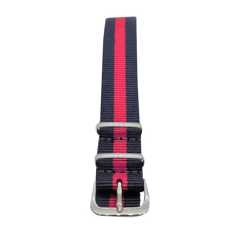 Nylon Watchband Style #12 - Navy & Red