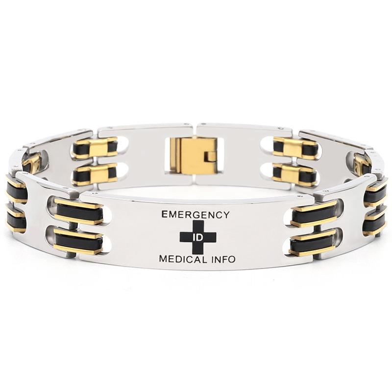 Classy 3 tone medical ID bracelet