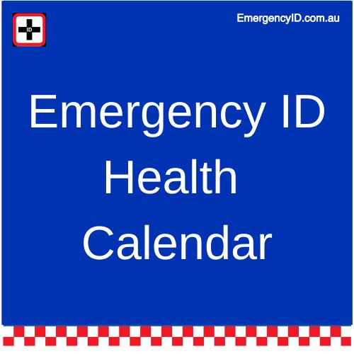 Emergency ID Australia's Health Calendar