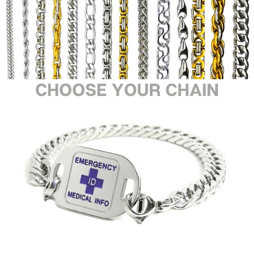 Wynyard Purple Small Emergency ID medical alert bracelet