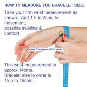 How to measure your wrist for a bracelet Emergency ID medical alert bracelet