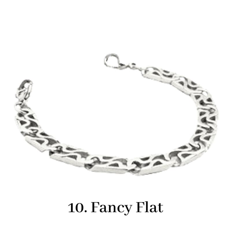 10. Fancy Flat Bracelet Chain Emergency ID Australia