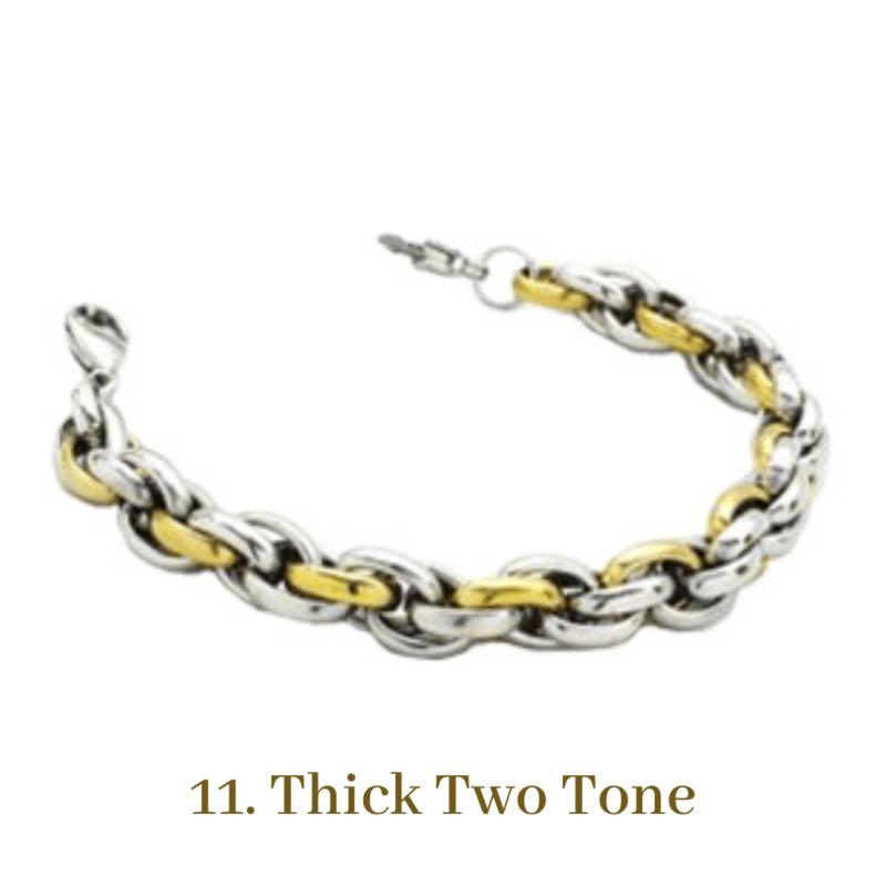 11. Thick Two Tone Gold Bracelet Chain Emergency ID Australia
