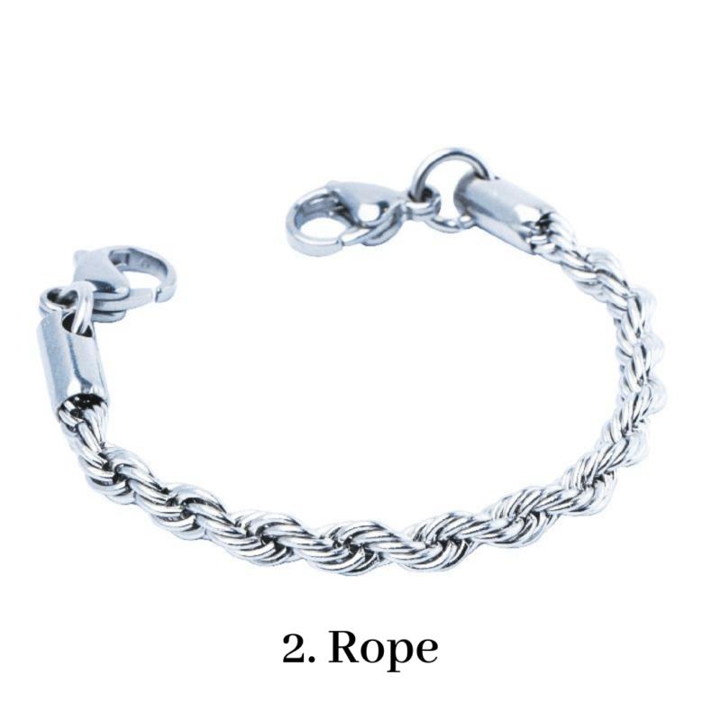 2. Rope Bracelet Chain Emergency ID Australia
