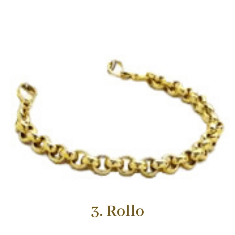 3. Rollo Gold Bracelet Chain Emergency ID Australia