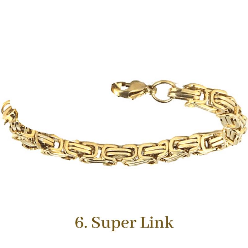 6. Super Link Gold Bracelet Chain Emergency ID Australia