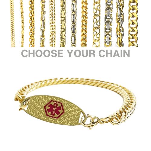 Latrobe Style Emergency ID gold medical alert bracelet