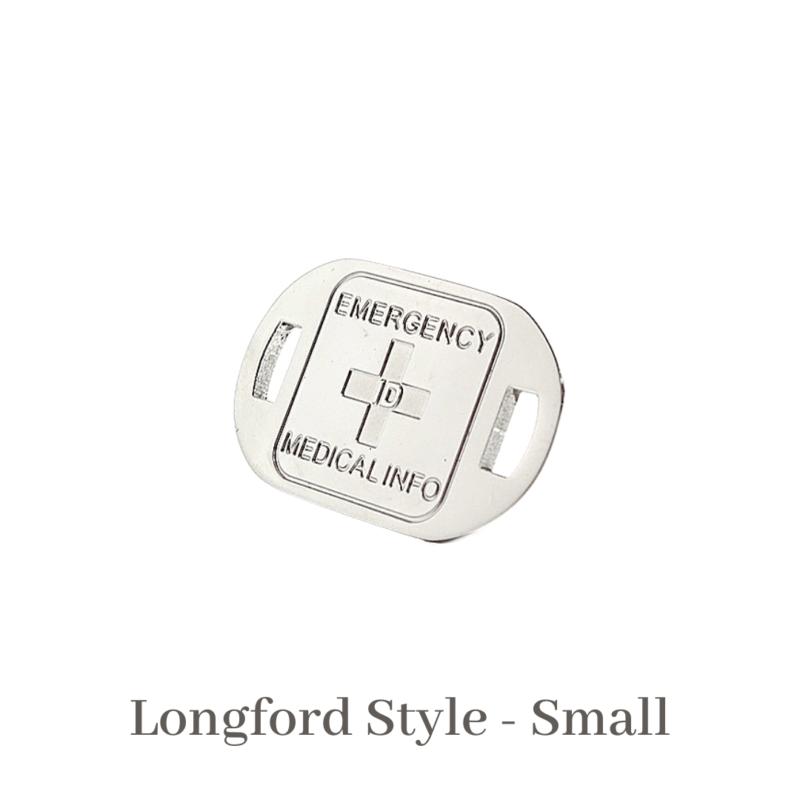 Longford Style Small Medallion Emergency ID Australia silver medical alert