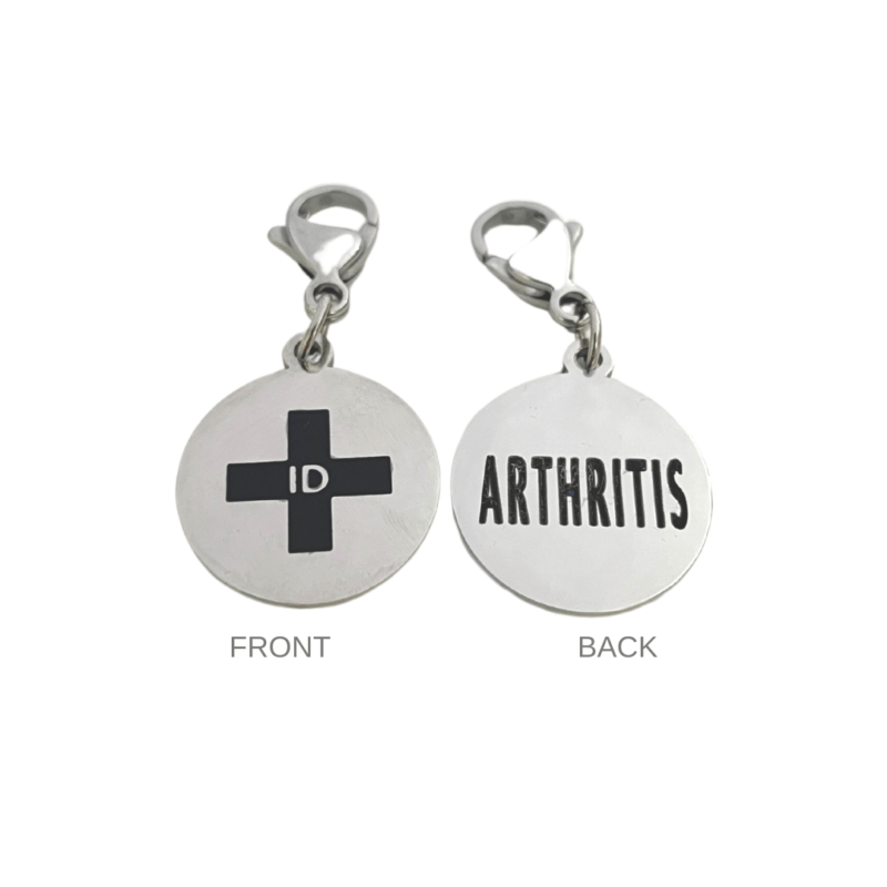 Arthritis Round Charm by Emergency ID Australia