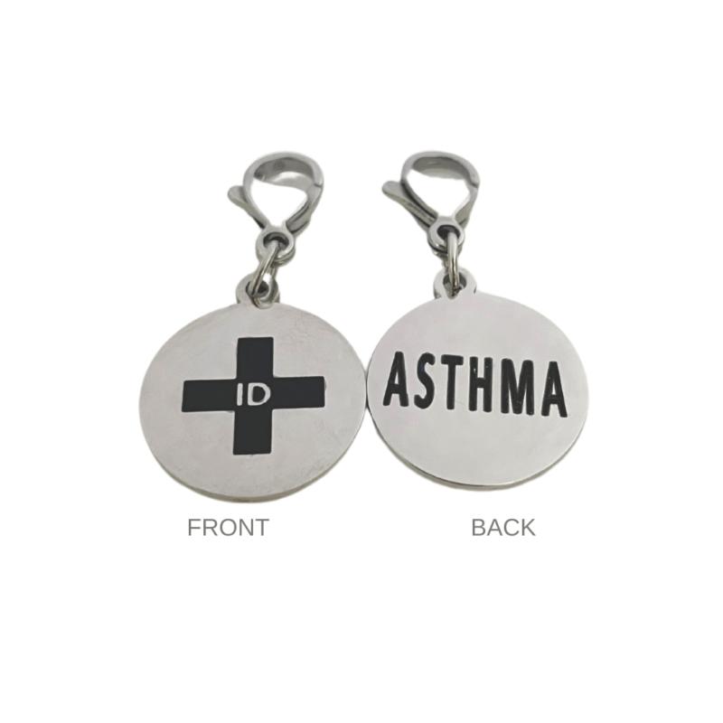 Asthma Round Charm by Emergency ID Australia