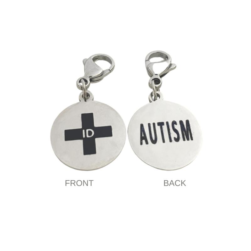 Autism Round Charm by Emergency ID Australia