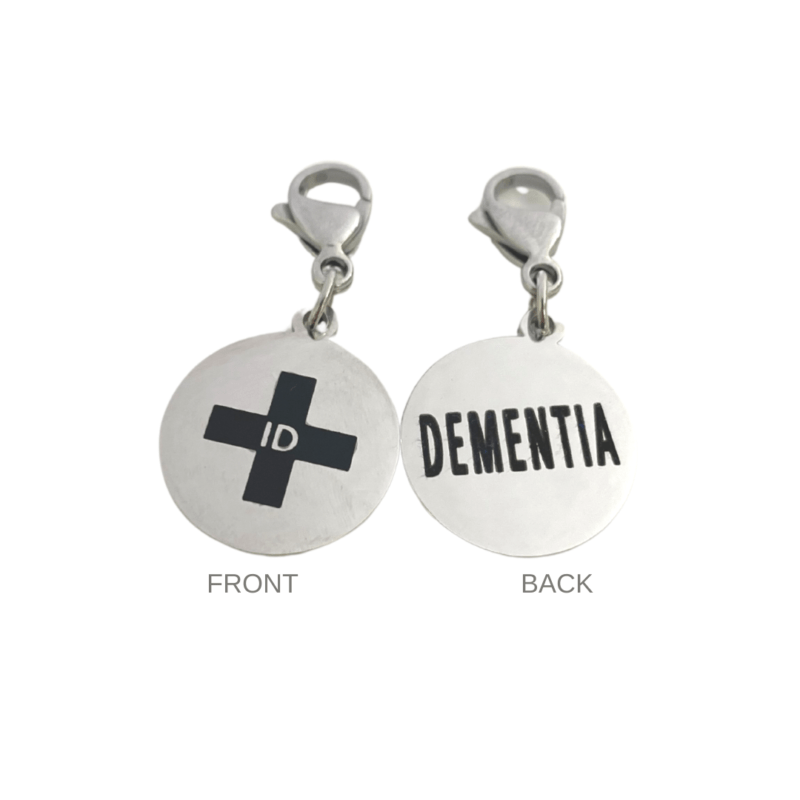Dementia Round Charm by Emergency ID Australia