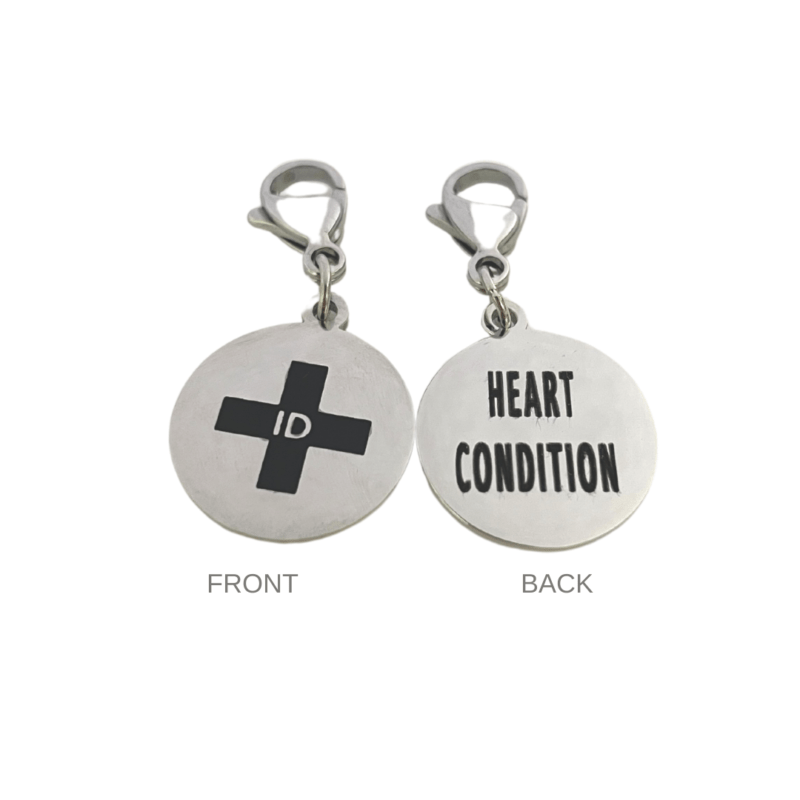 Heart Condition Round Charm by Emergency ID Australia
