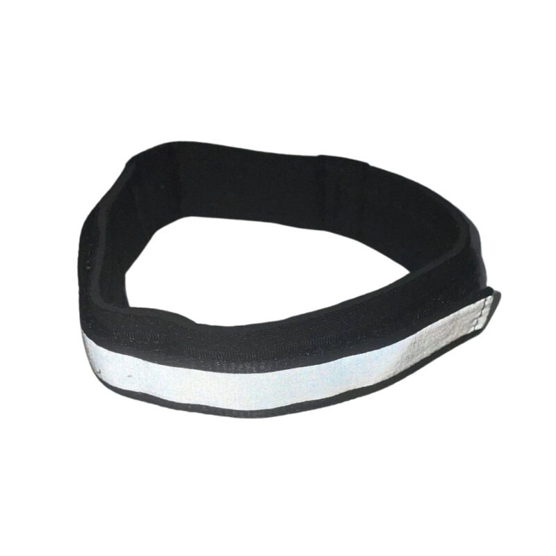 Reflective Sports X Large Wristband Black showing reflecting