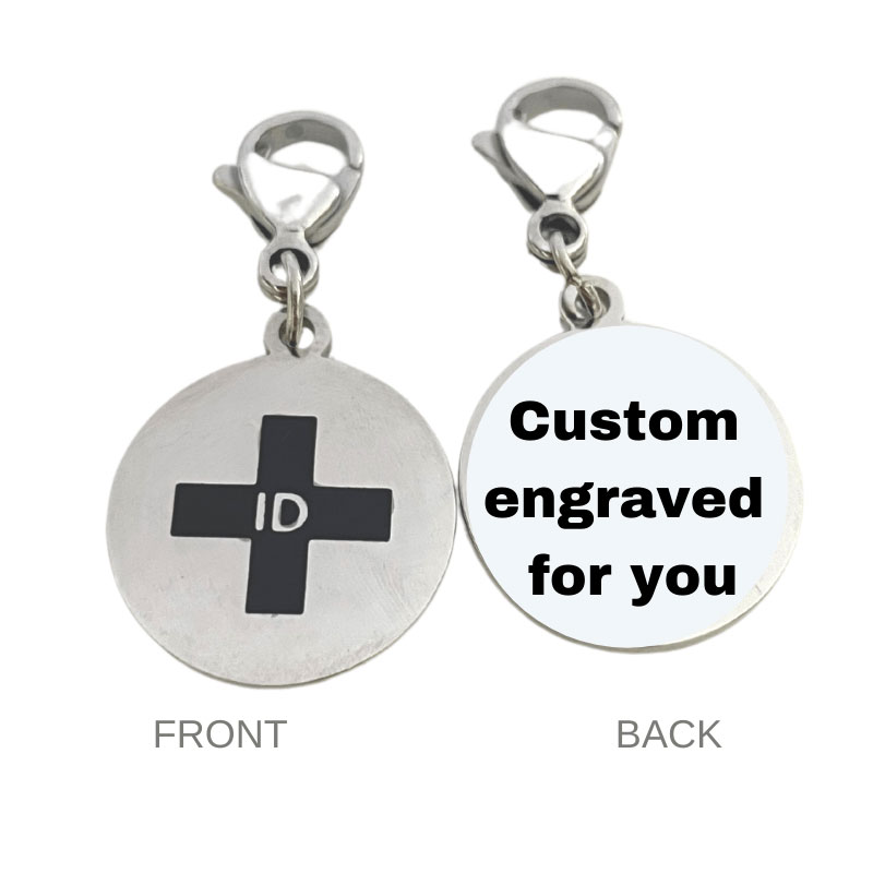 Emergency ID Charms and Bracelet Parts