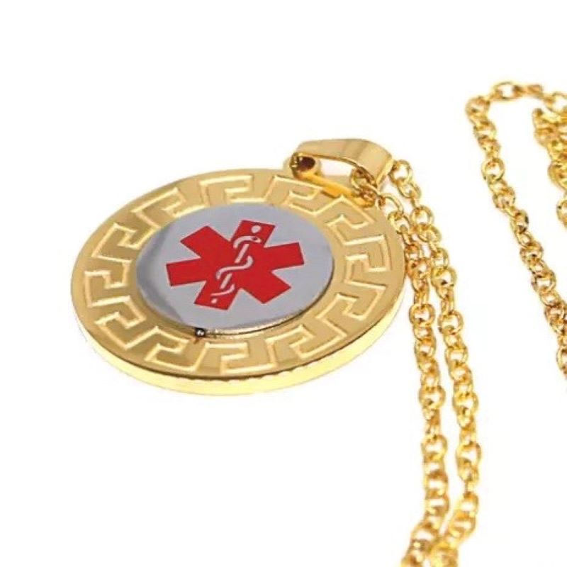 Emergency ID Gold Necklaces