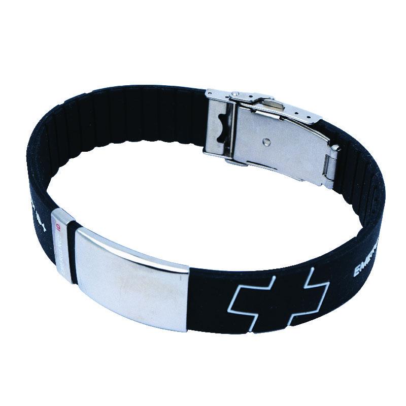 Emergency ID Silicone Sports Bracelets