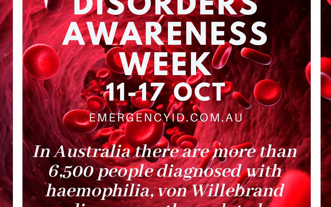 Bleeding Disorders Awareness Week 11 – 17 October 2021
