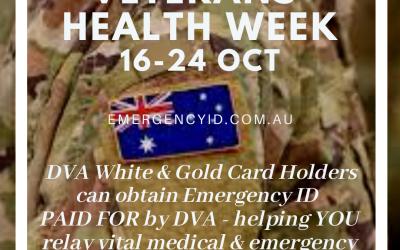 Veterans Health Week 16 – 24 October 2021
